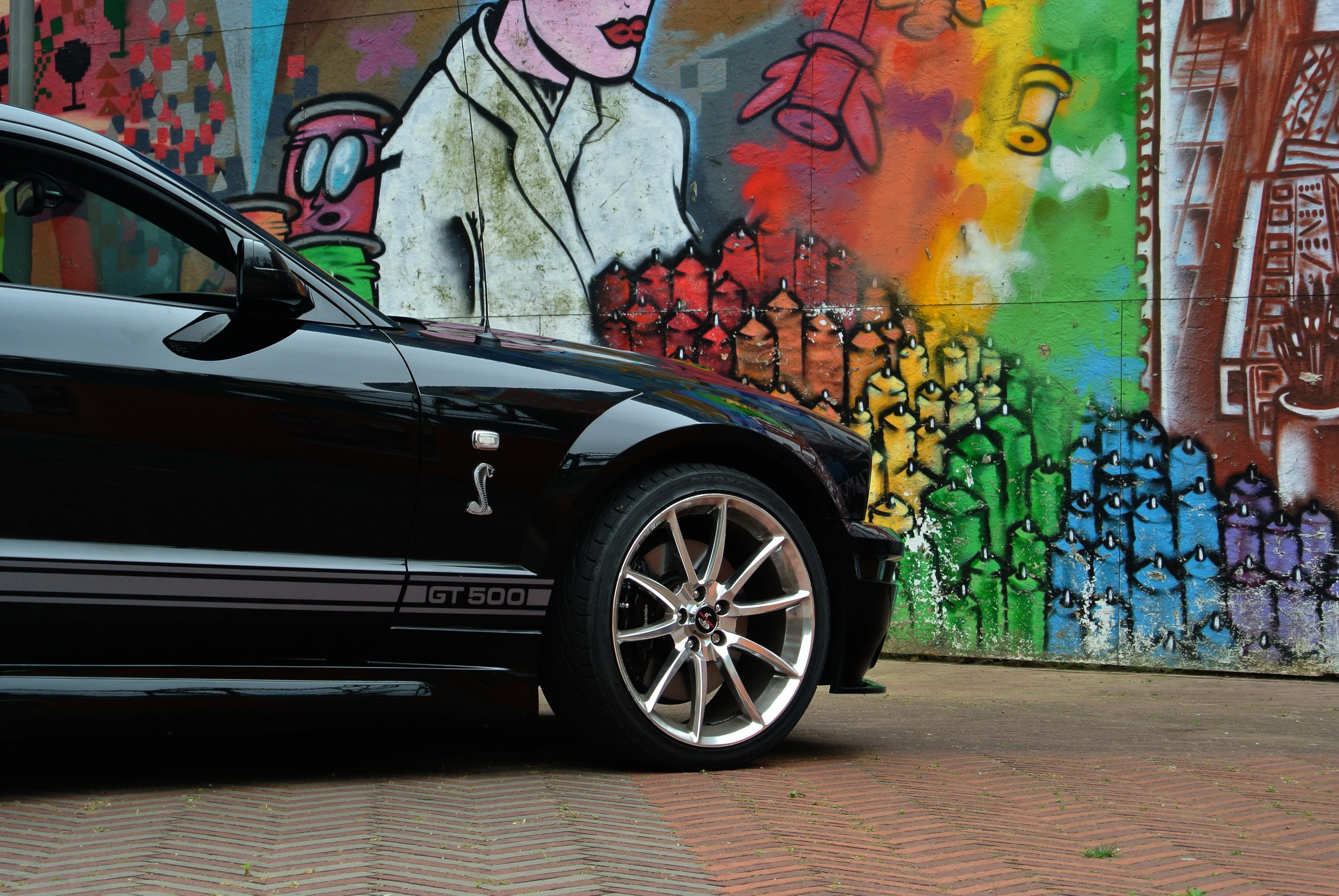 Ford Mustang Shelby GT-500 Black Muscle Car